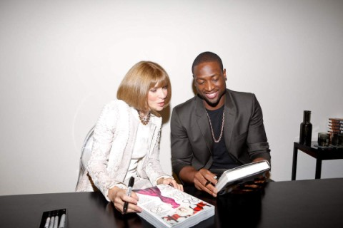 Anna Wintour and Dwyane Wade Fashion's Night Out 2012