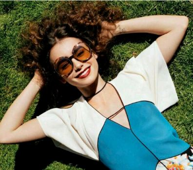 Lily Collins, Shady Ladies, May 2013 US Vogue