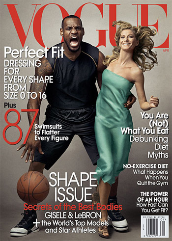LeBron James and Gisele Bündchen April 2008 US Vogue cover