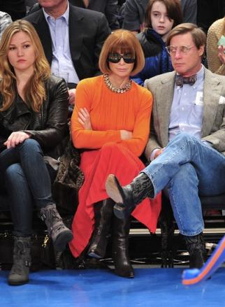 Anna Wintour, Knicks game.