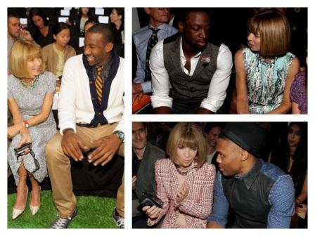 Anna Wintour & NBA stars.