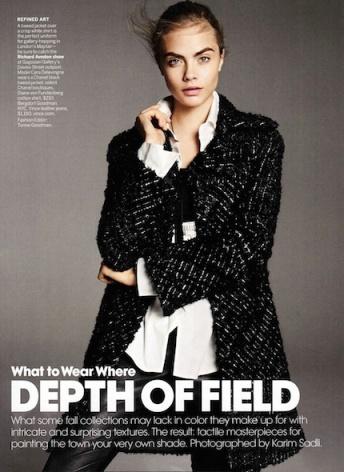 Cara Delevingne, October 2013 US Vogue.