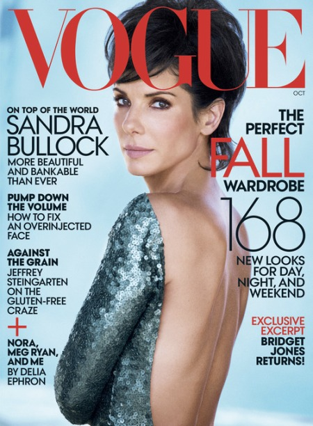 Sandra Bullock, October 2013 US Vogue.