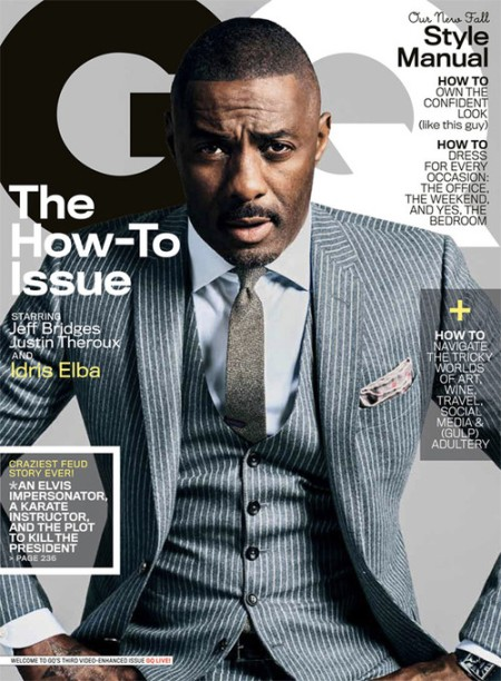 Idris Elba, GQ October 2013.
