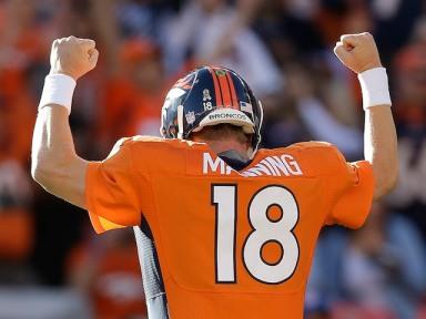 Peyton Manning celebrates