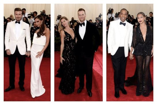 The Beckhams The Bradys The Carters 2014 Met Gala