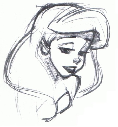 Ariel, The Little Mermaid sketch