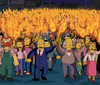 angry mob, The Simpsons