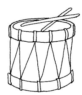 black and white drum art