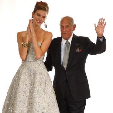 Karlie Kloss and Oscar de la Renta
