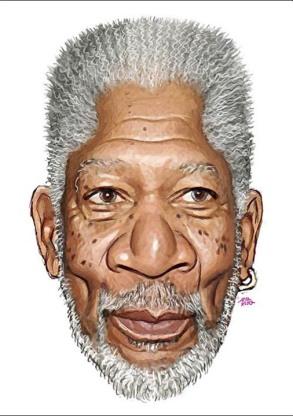 Morgan Freeman Caricature